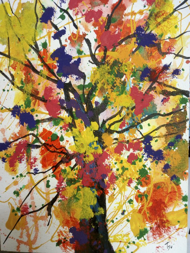 Árbol - Acrílico sobre tabla. 100 x 81 cm