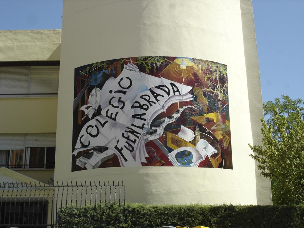 Mural colegio Fuenlabrada