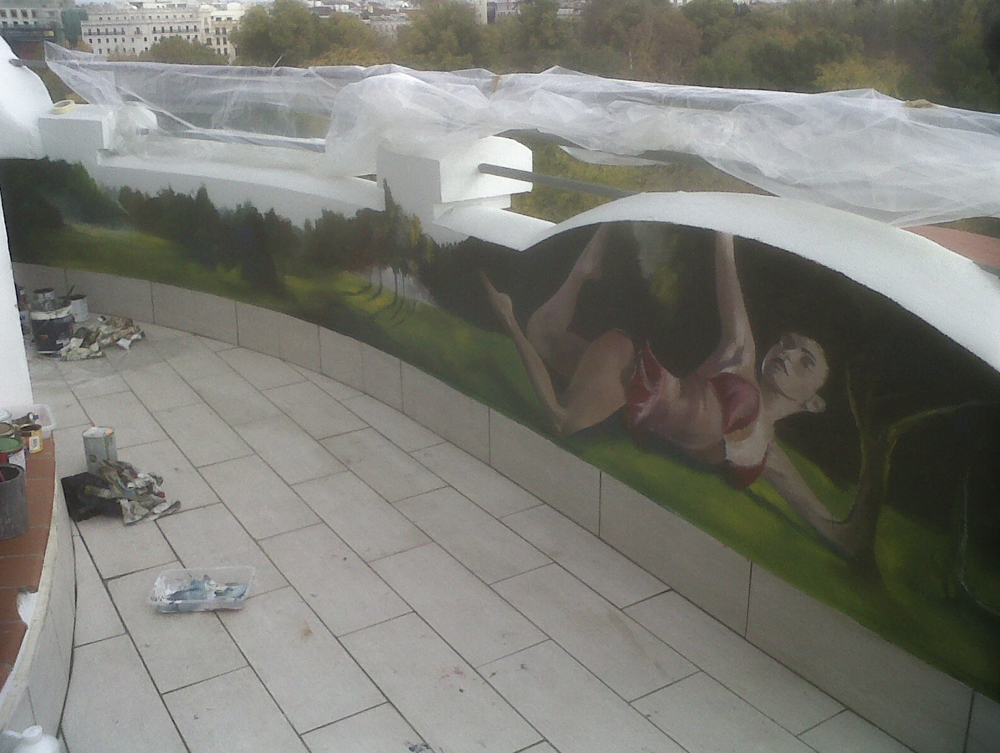 Mural en comunidad