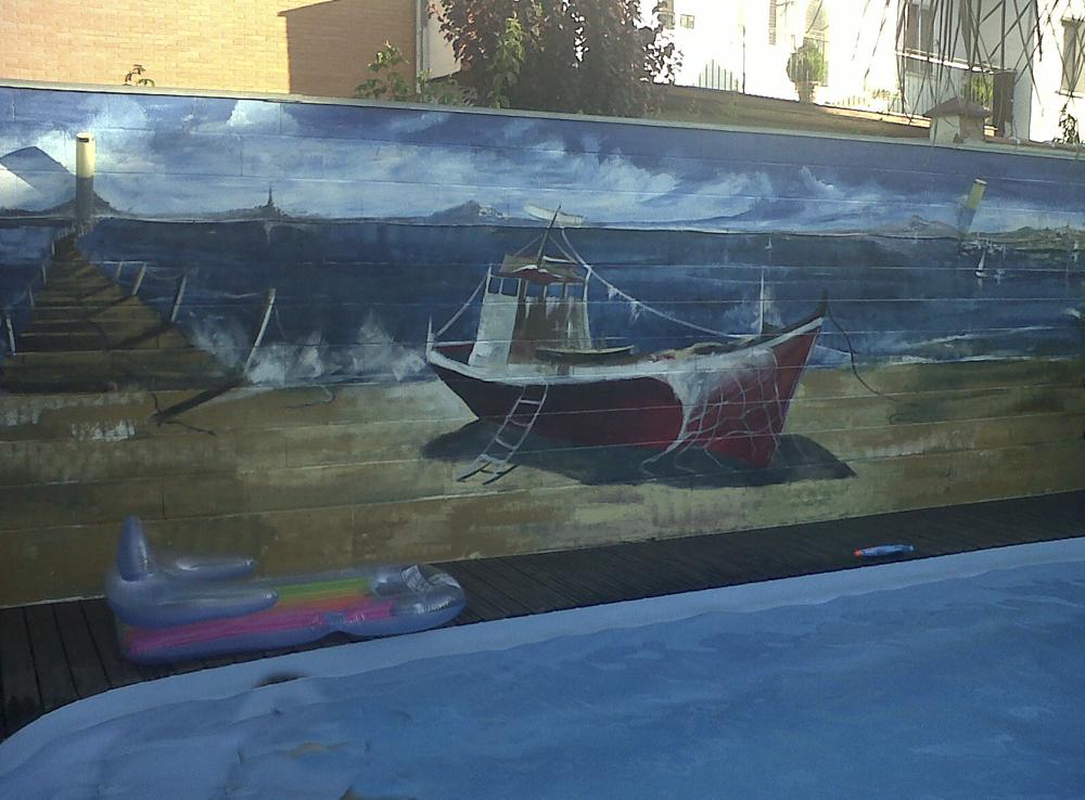 Mural en Piscina