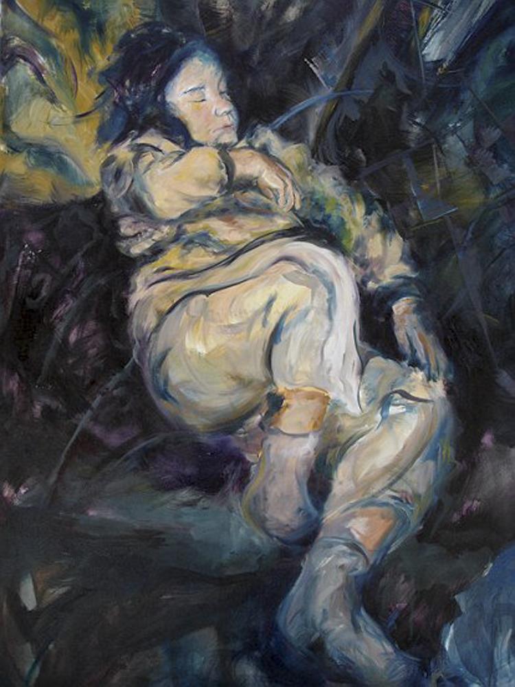 Ana II. Óleo. 100 x 81