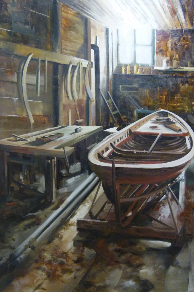 Barca.130 x 96 cm. Óleo sobre lienzo