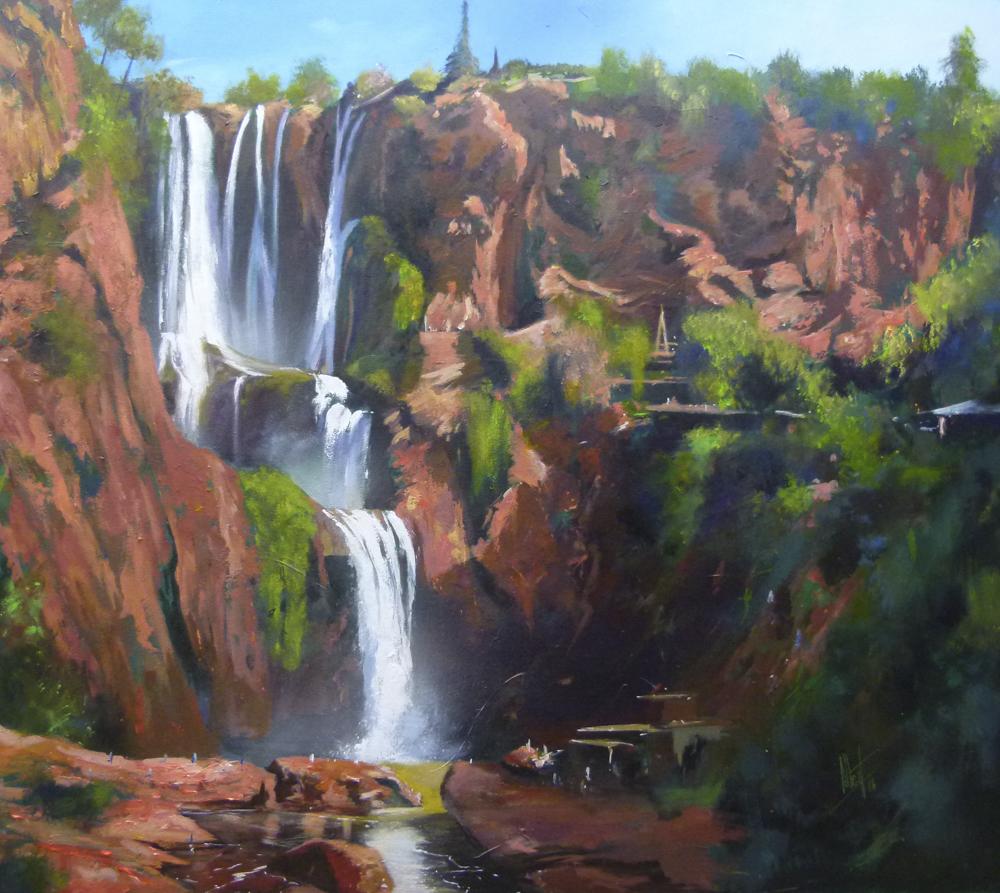 Cataratas de África Óleo sobre lienzo 100 x 81cm
