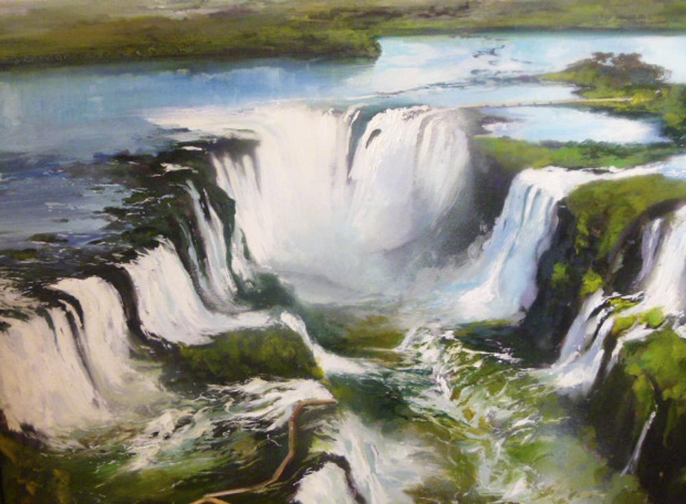 Cataratas de Iguazú. 100 x 80 cm. Óleo sobre lienzo