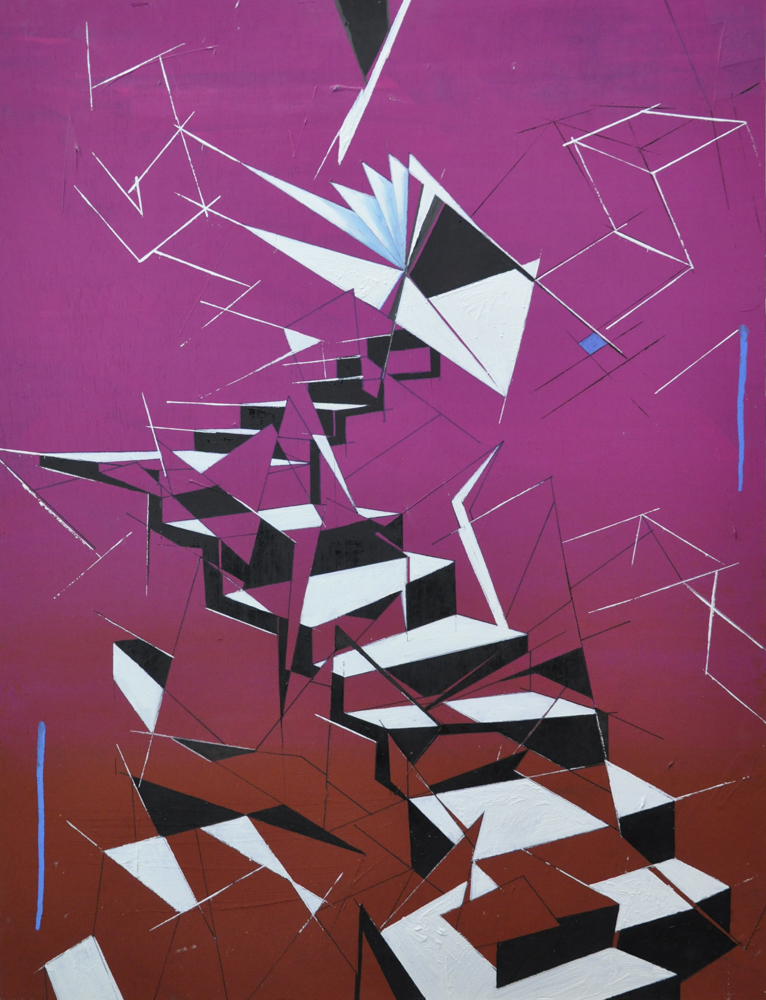 Escaleras Óleo sobre tabla 60 x 80 cm