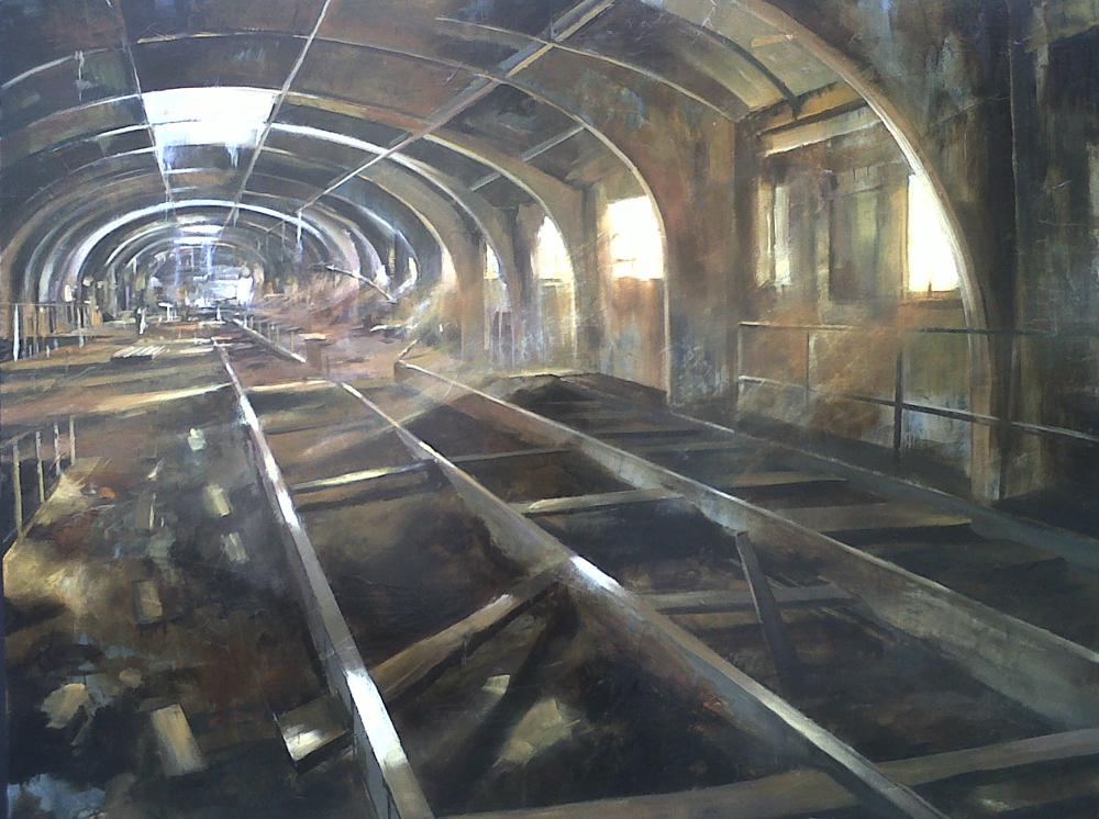 Estación. 140 x 100 cm. Óleo sobre lienzo