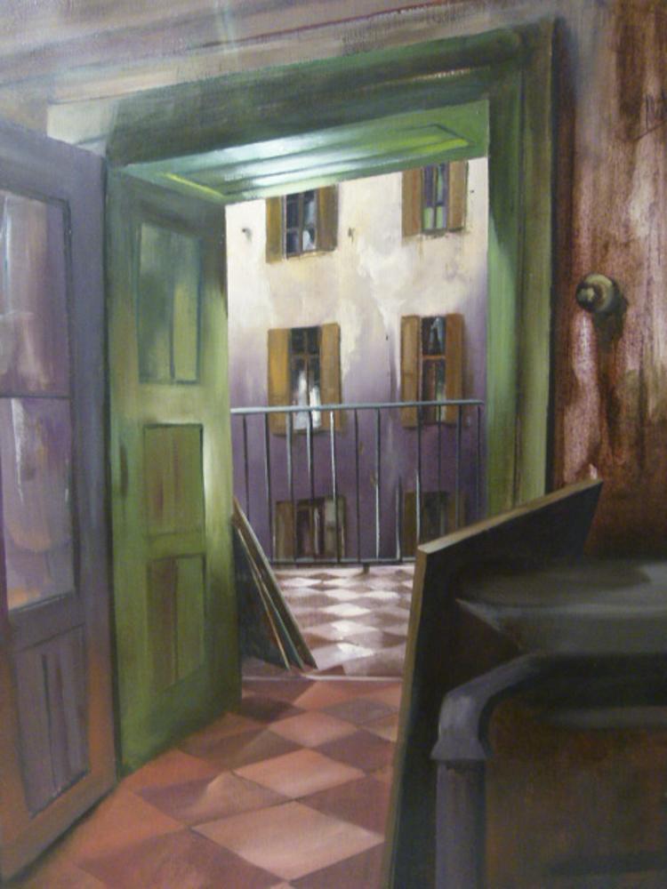 Interior Fa. Óleo sobre lienzo. 100 x 81cm