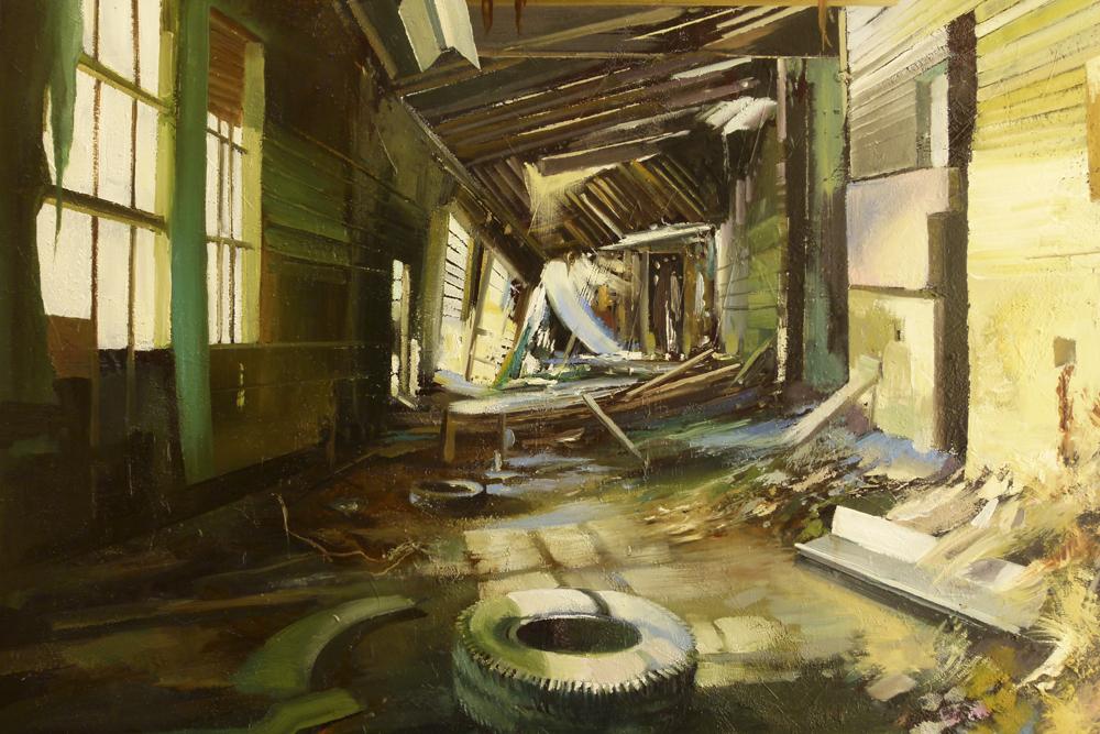 Interior I. Óleo sobre lienzo. 100 x 81 cm