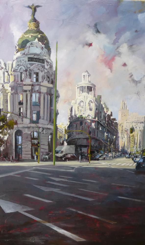 Madrid V. 120 x 60 cm. Óleo sobre lienzo.