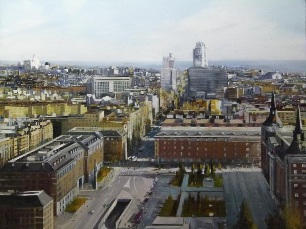 Madrid II. Óleo sobre lienzo 100 x 81 cm.
