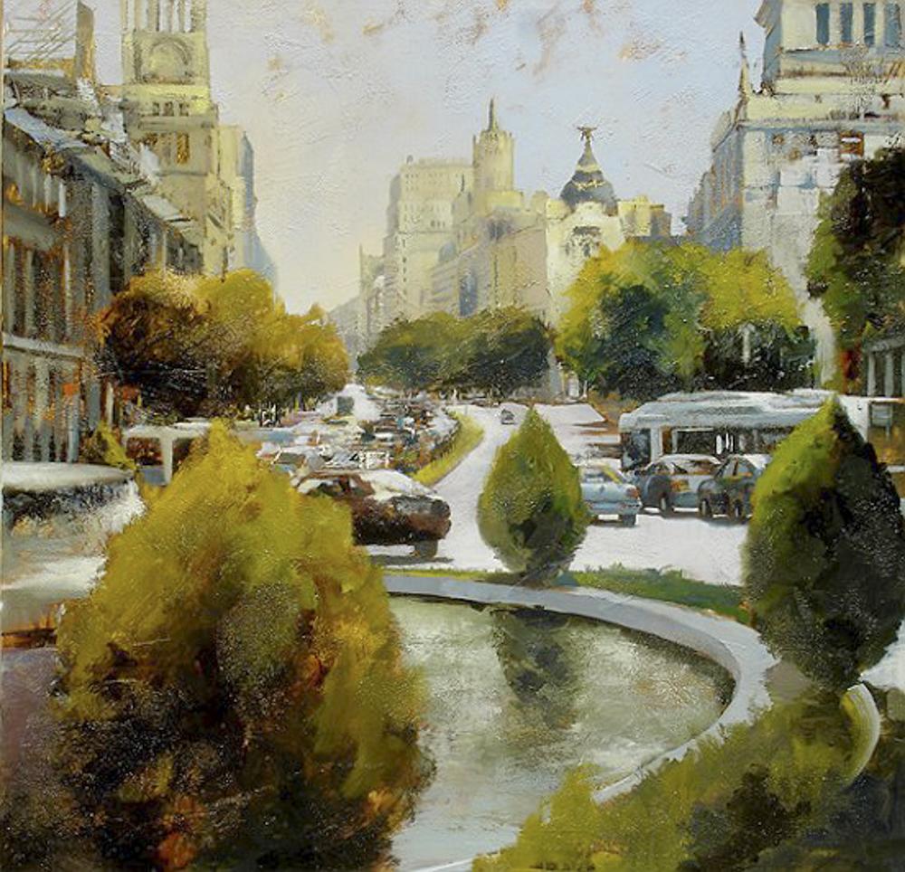 Madrid. I 100 x 100 cm. Óleo sobre lienzo.