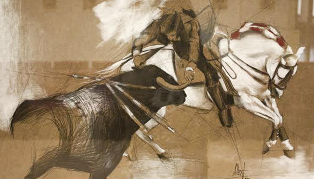 Mendoza Pablo. 70 x 50 cm Lápiz y tiza.