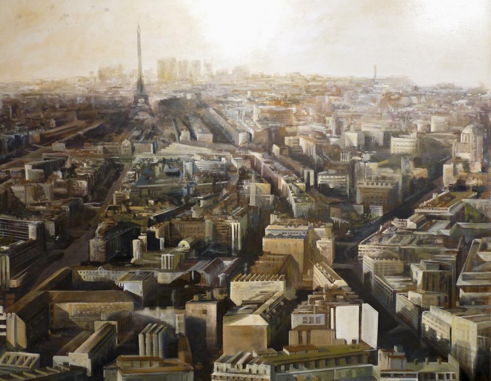 Panorámica de Paris. 176 x 180 cm