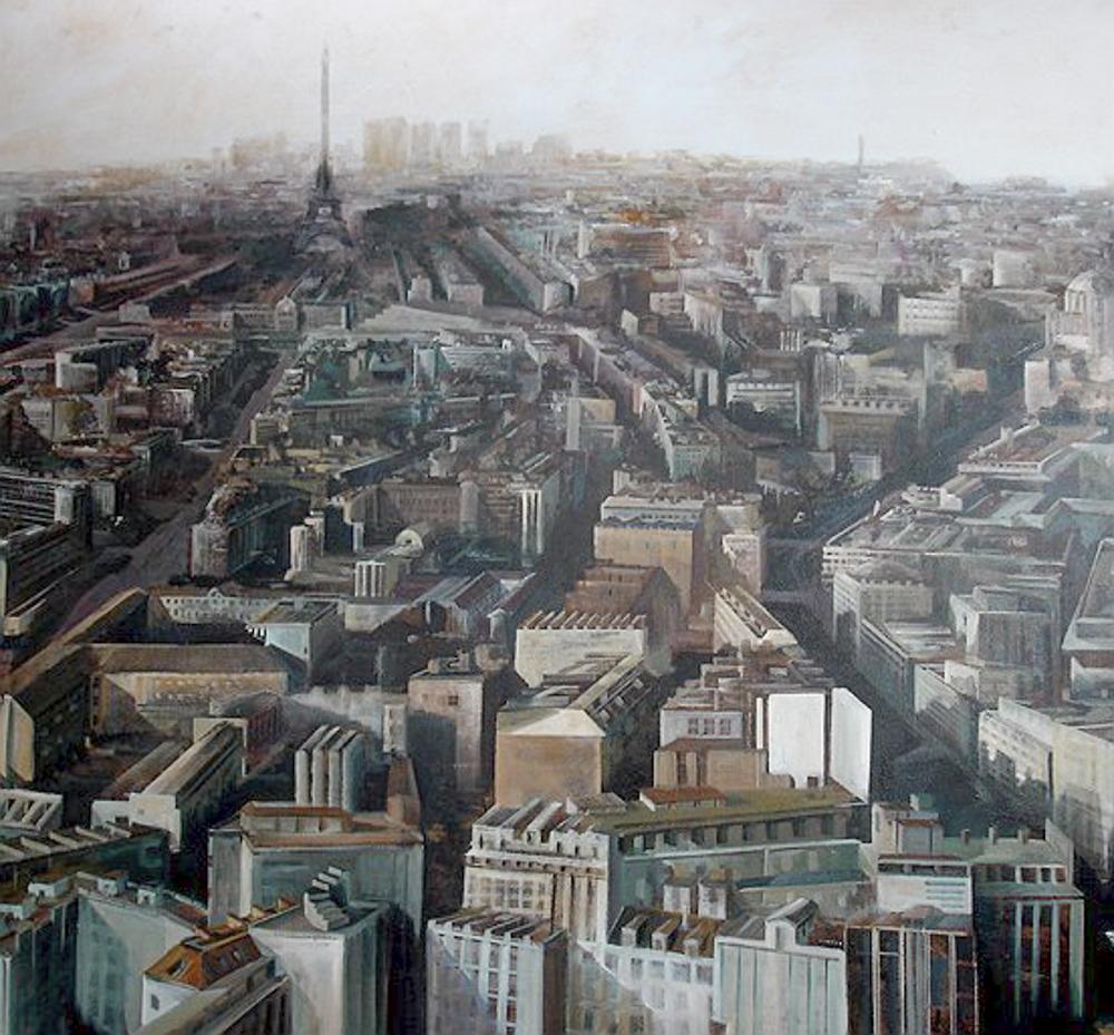 Paris. III. Óleo.180 x 176 cm.