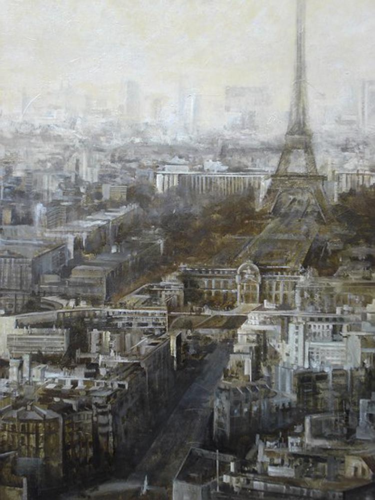 Paris. Óleo. 176 x 155 cm.