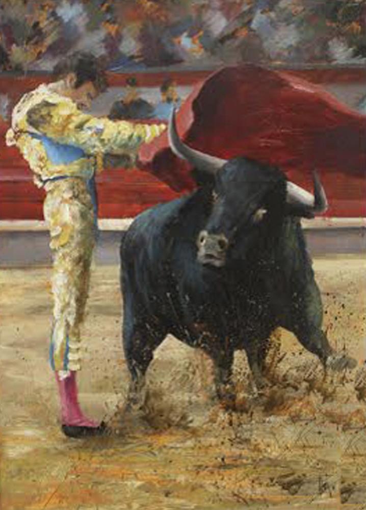 Pase de José Tomás. 70 x 50 cm. Óleo sobre lienzo.