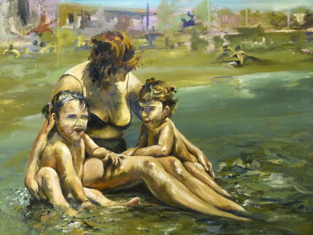 Playa. Óleo sobre lienzo 116 x 90 cm