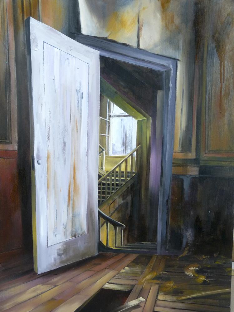 Puertas a dentro. Óleo sobre lienzo. 100 x 81cm