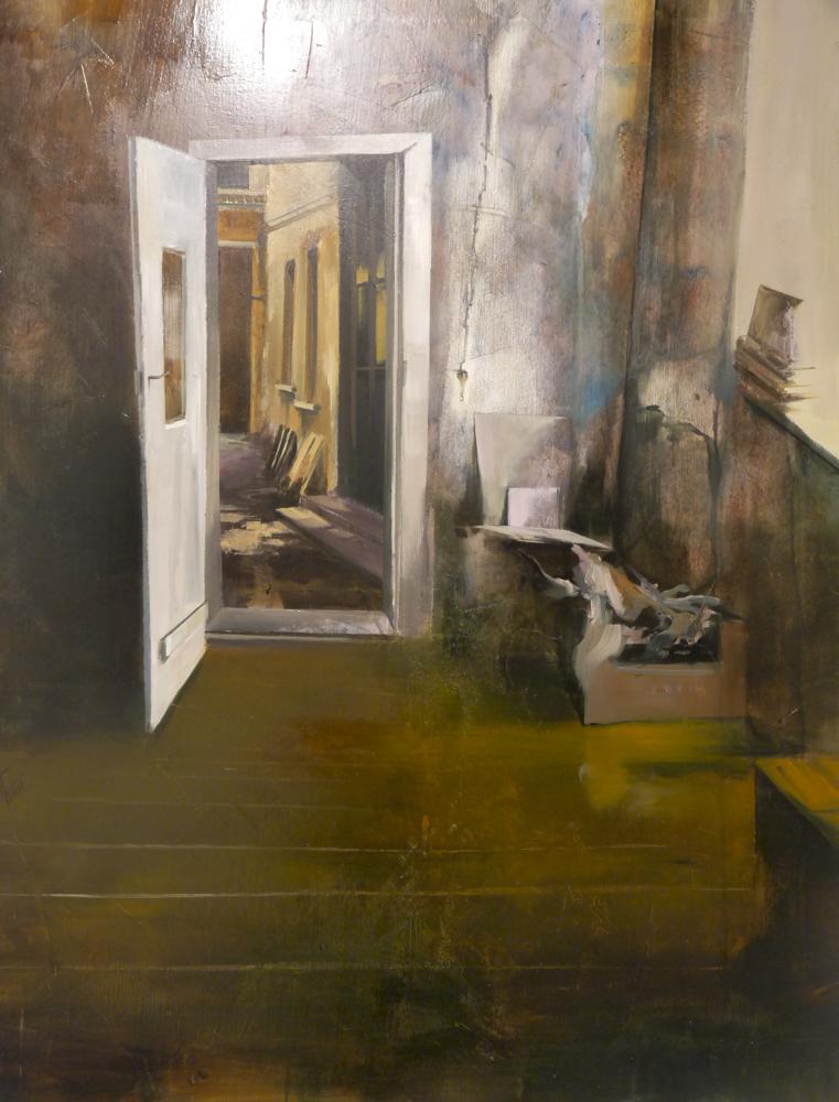 Puertas adentro. Óleo sobre lienzo. 100 x 81 cm