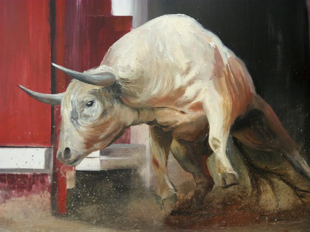 Torito II. Óleo sobre lienzo. 100 x 81cm