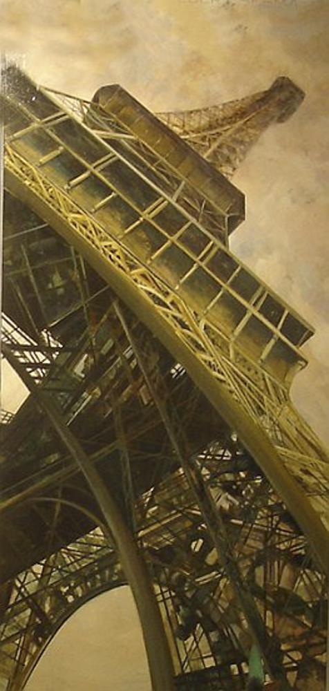 Torre. Óleo. 190 x 85 cm.