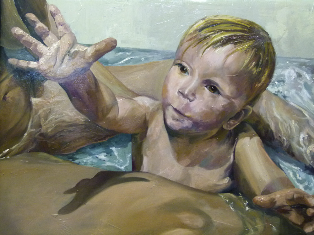 Yannick. 100 x 100 cm. Óleo sobre madera