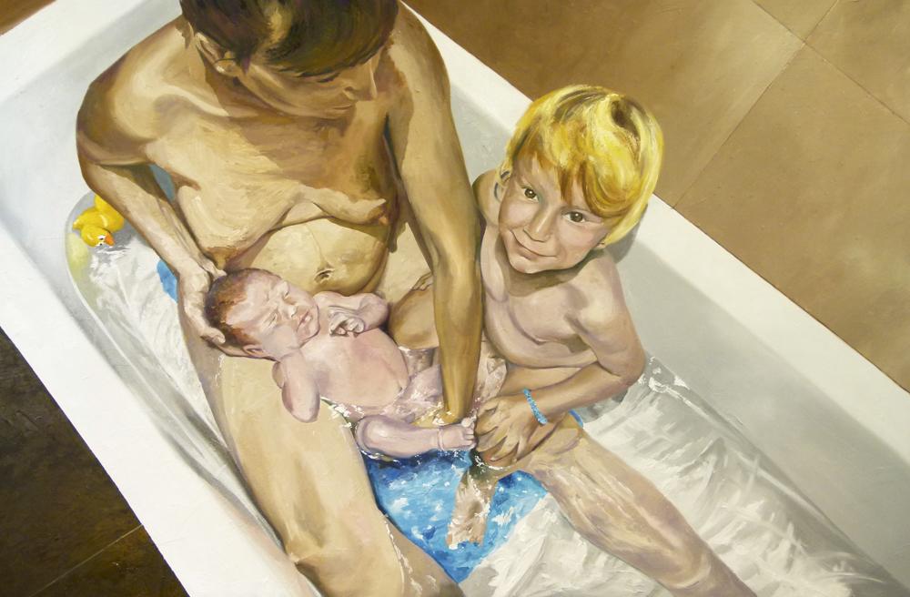 Ellos son mi familia. Óleo sobre lienzo. 150 x 100 cm