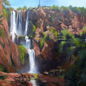 Albert Sesma - Cataratas de Africa oleo lienzo 100x81 1600€