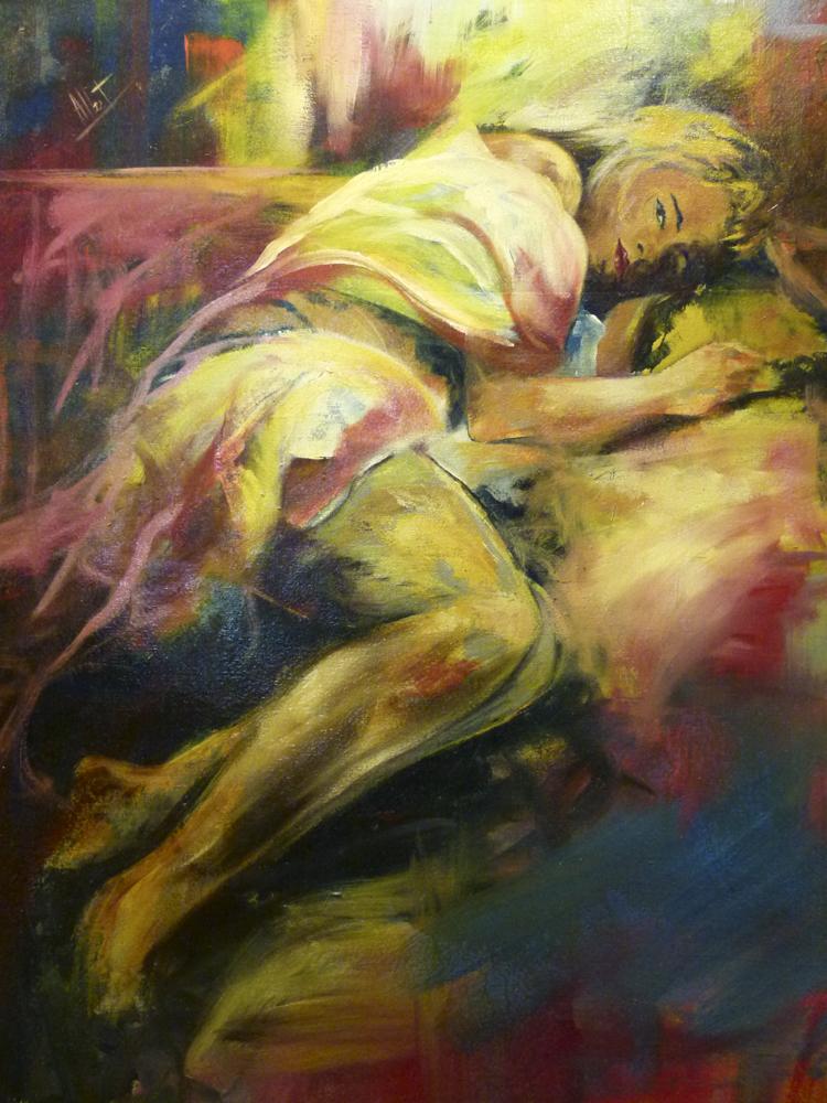 Albert Sesma - Descanso. 100x81cm. oleo lienzo. 400€