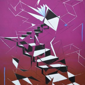 Albert Sesma - Escaleras oleo tabla 60 x 80 cm - 340€