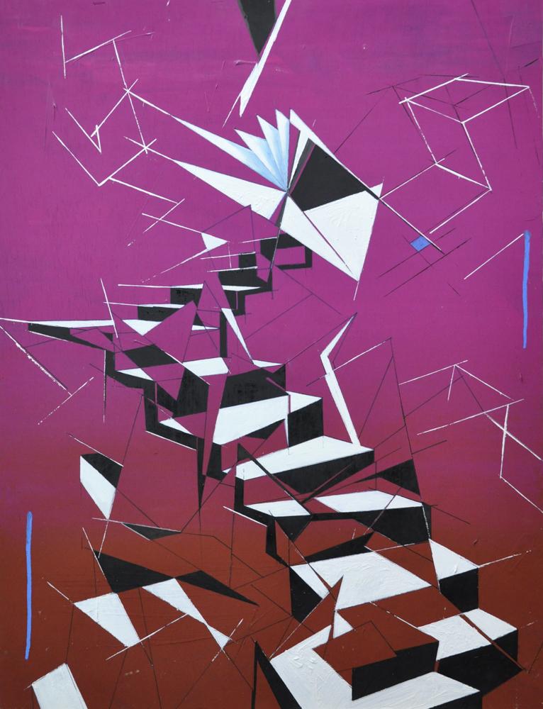 Albert Sesma - Escaleras oleo tabla 60 x 80 cm - 340€