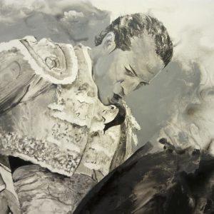 Albert Sesma - Fandiño. Por ti. 100 x 81cm. Acrilico y acuarela sobre lienzo 1800€