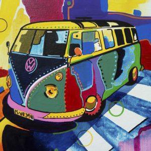 Albert Sesma - Furgo. 100 x 81 cm. Oleo lienzo 600€