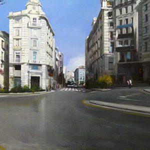 Albert Sesma - Granada oleo lienzo 100x81cm 700€