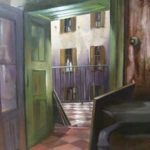 Albert Sesma - Interior Fa. Oleo lienzo. 100x81cm 350€