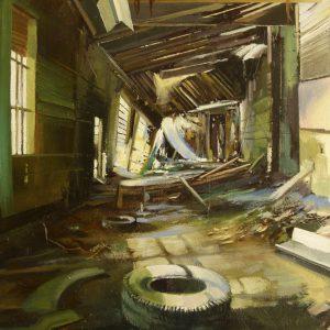 Albert Sesma - Interior I. oleo lienzo. 100x81cm. 400€