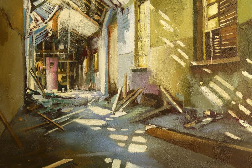 Albert Sesma - Interior II. oleo lienzo. 100x81cm.400€