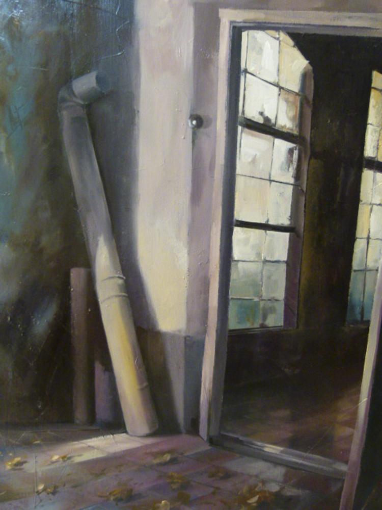 Albert Sesma - Interior Re. Oleo sobre lienzo. 100x81cm 300€