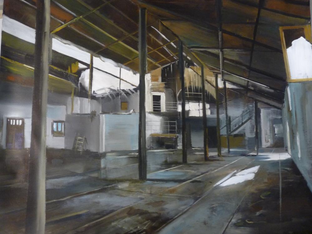 Albert Sesma - Interior en MI. 100 x 81cm. Oleo lienzo 400€