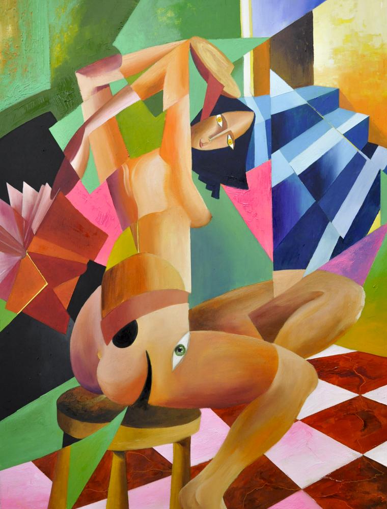 Albert Sesma - La lectura oleo sobre madera 60 x 80cm 1200€