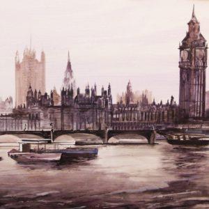Albert Sesma - Londres. 100 x 81cm acrilico lienzo 1000€