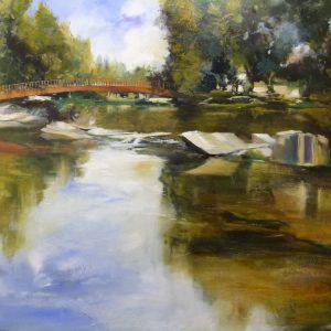 Albert Sesma - Medina de pomar. 120 x 80 cm. Acrilico lienzo 1000€