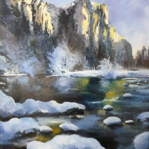 Albert Sesma - Nieve 70 x 50 cm. oleo tabla.2012. 450€€
