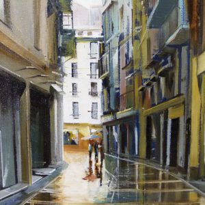 Albert Sesma - Pamplona. 50x50cm oleo lienzo. 230€