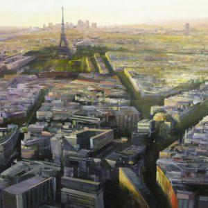 Albert Sesma - Paris Panoramica I. 130 x 89cm. oleo tabla. 3000€