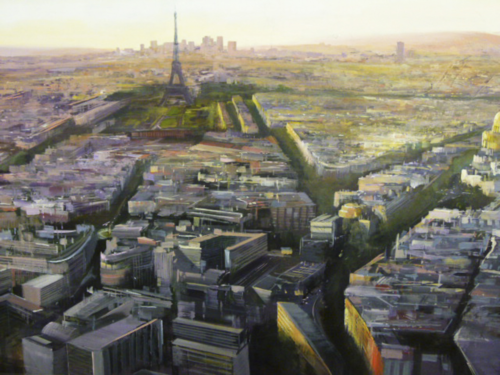 Albert Sesma - Paris Panoramica I. 130 x 89cm. oleo tabla. 3000€