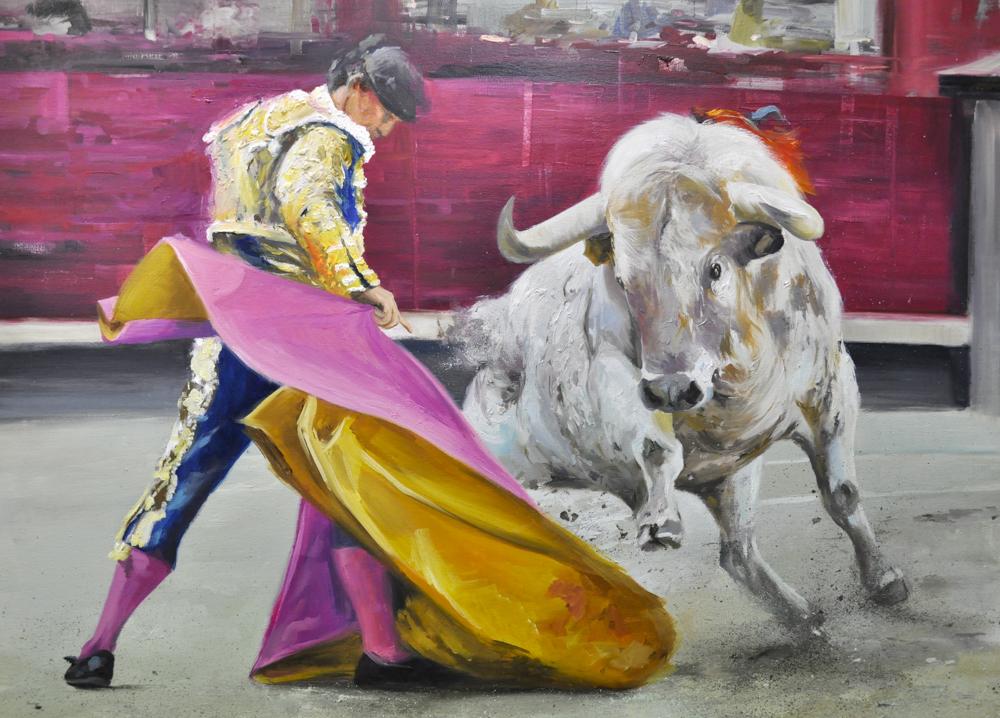 Albert Sesma - Pase II. Oleo lienzo. 100 x 81cm 1400€