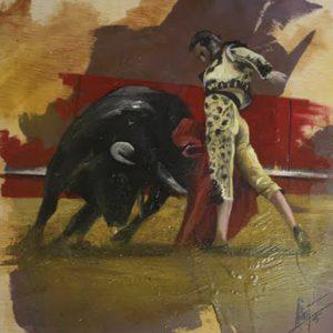 Albert Sesma - Pase VI. 50 x 50 cm . Acrilico tabla. 200€