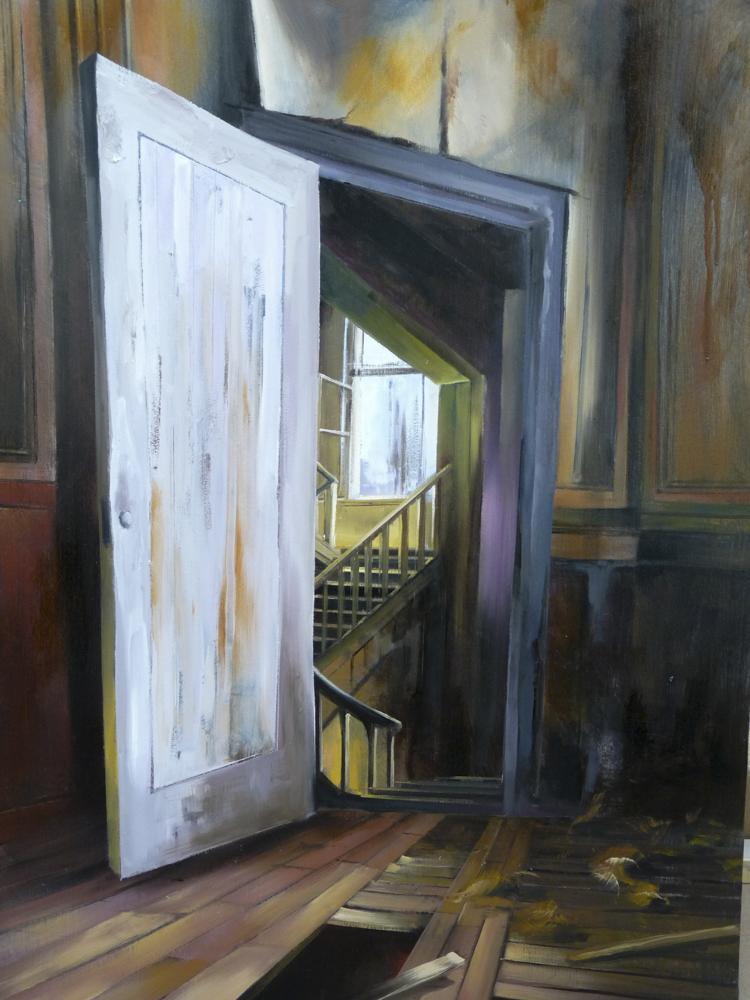 Albert Sesma - Puertas a dentro. Oleo sobre lienzo. 100 x 81cm. 400€