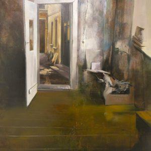 Albert Sesma - Puertas adentro. Oleo lienzo. 100 x 81cm 400€